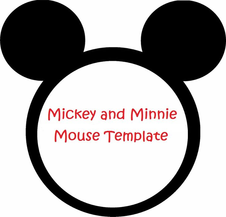 Minnie Mouse Cut Outs Printable | Minnie Mouse invitation template - lilsprinkles.com