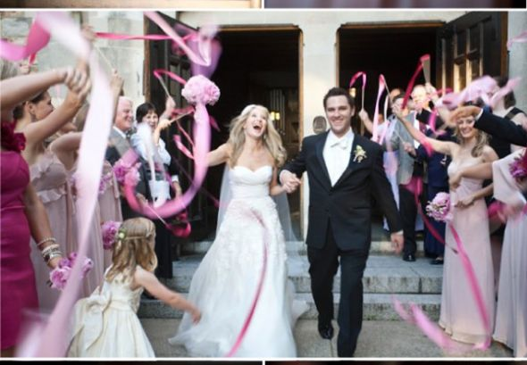 Ribbon wands for coming back down the isle as a married couple, or leaving the church! :) (great option for daylight exits)