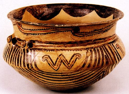clay vessel unearthed in Vinča,