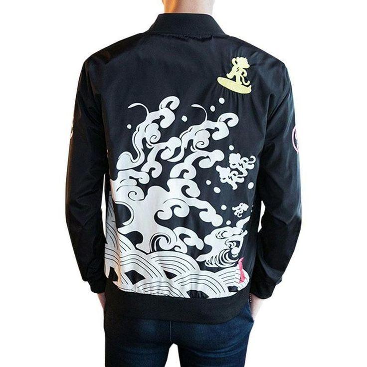 """Monkey"" Embroidery Jacket"