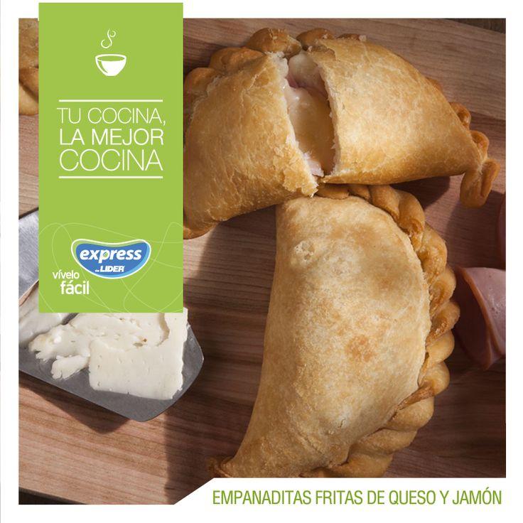 Empanaditas fritas de queso y jamón / #Food #Foodporn #ExpressdeLider #RecetarioExpress #Empanadas #Queso #Jamón
