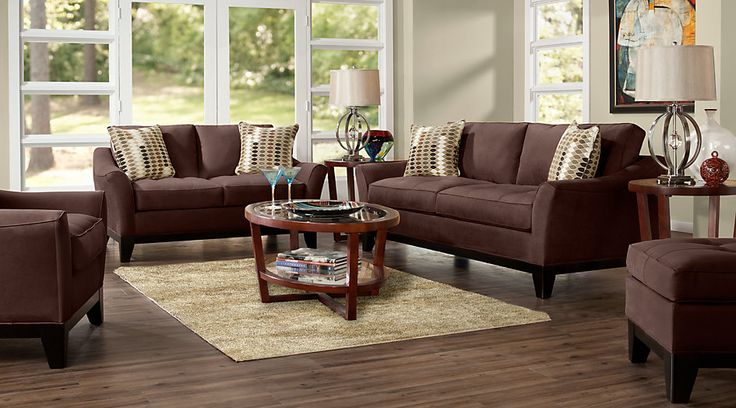 Cindy Crawford Home Newport Cove Chocolate 7 Pc Living Room from  Furniture