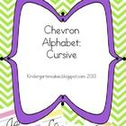 Chevrons are the popular design for classrooms this year- they are everywhere! Now your alphabet and word wall can have chevrons, too! The cursive ...