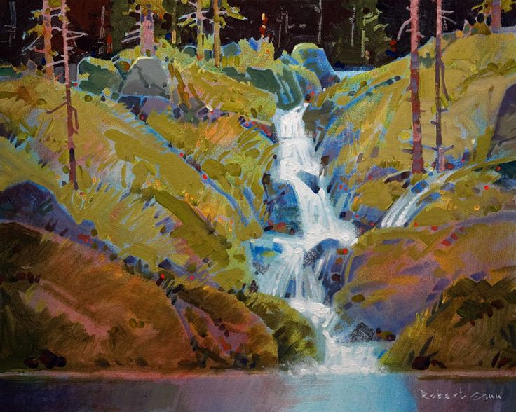 """Legend of Fairy Falls,"" by Robert Genn 16 x 20 - acrylic $5100 Unframed"