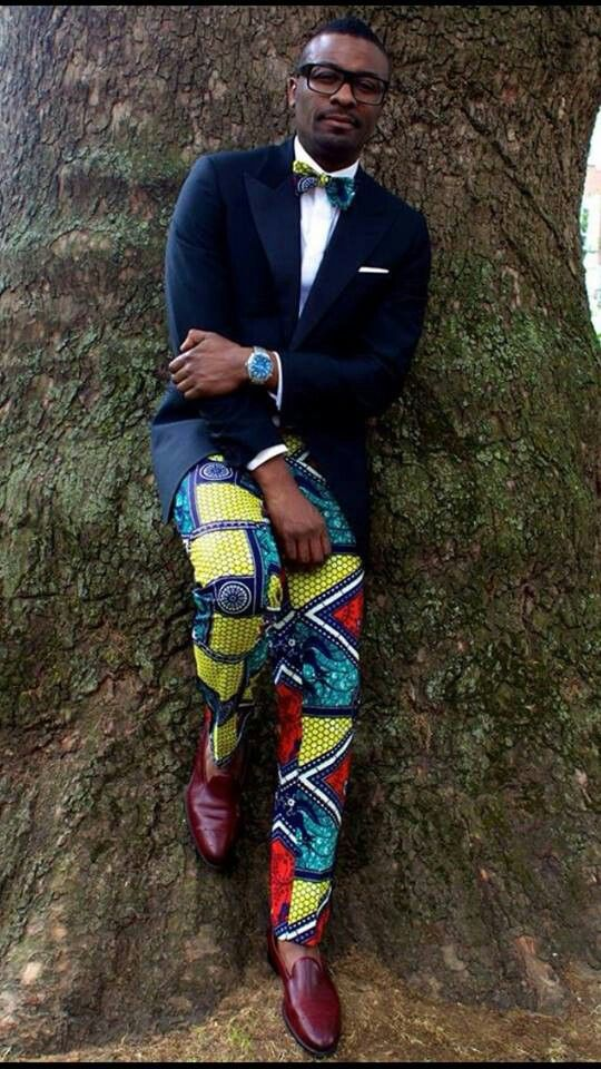 African prepster | wax print trousers