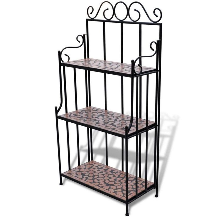 Metal Plant Stand Garden Patio 3 Tier Outdoor Indoor Flower Pot Display Rack