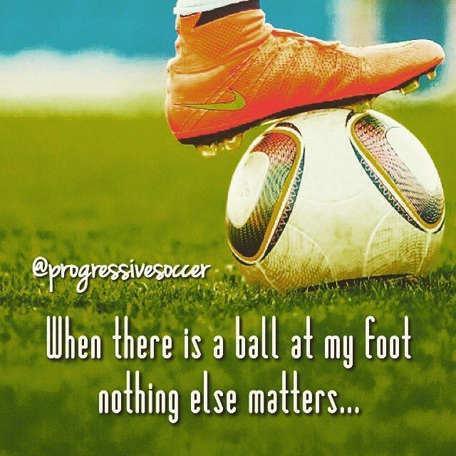 Let football be thy medicine... Have a problem in your life? Let go and get lost in your football.