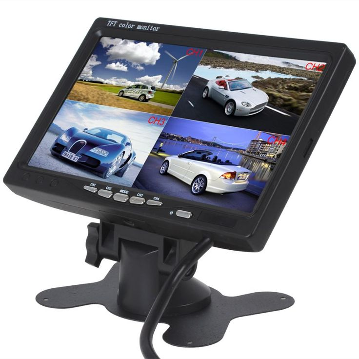 "12V-24V 7"" 4 Split Quad Video Display TFT LCD Car Bus Monitor - Free Shipping - DealExtreme"
