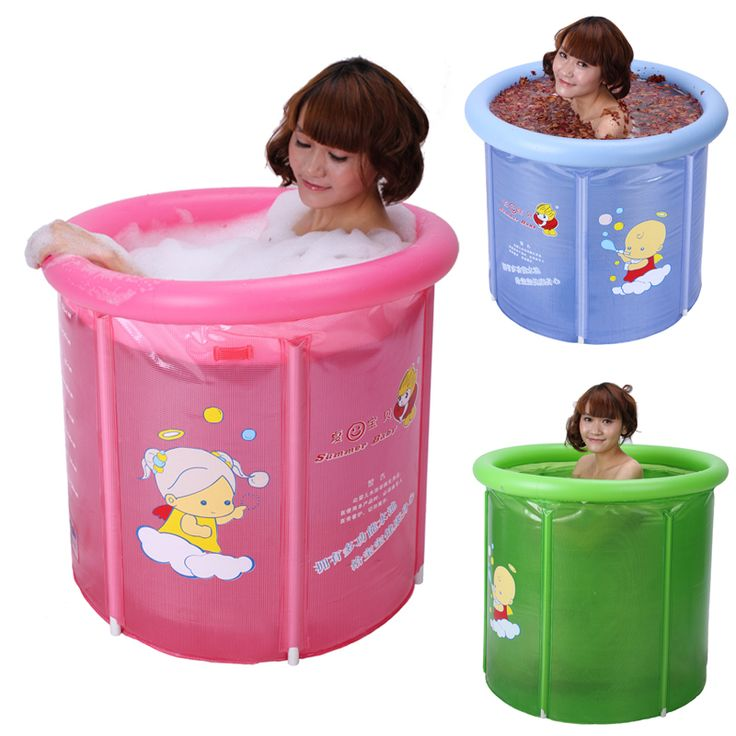 Folding Bathtub Small Adult Bath Bucket Thickening Folding Tub ...