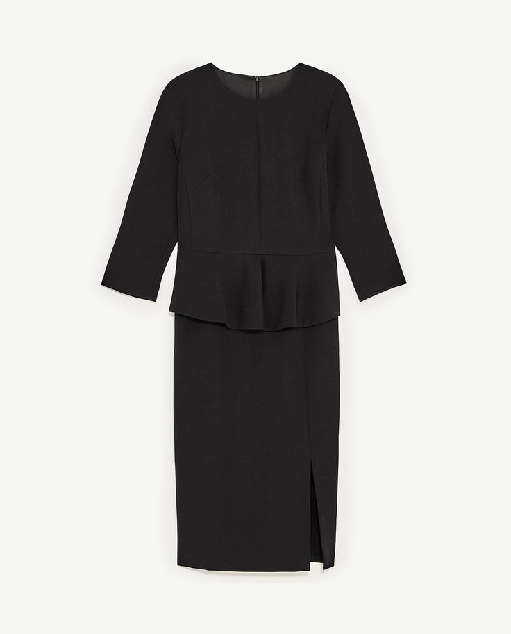 Image 8 of PEPLUM TUBE DRESS from Zara