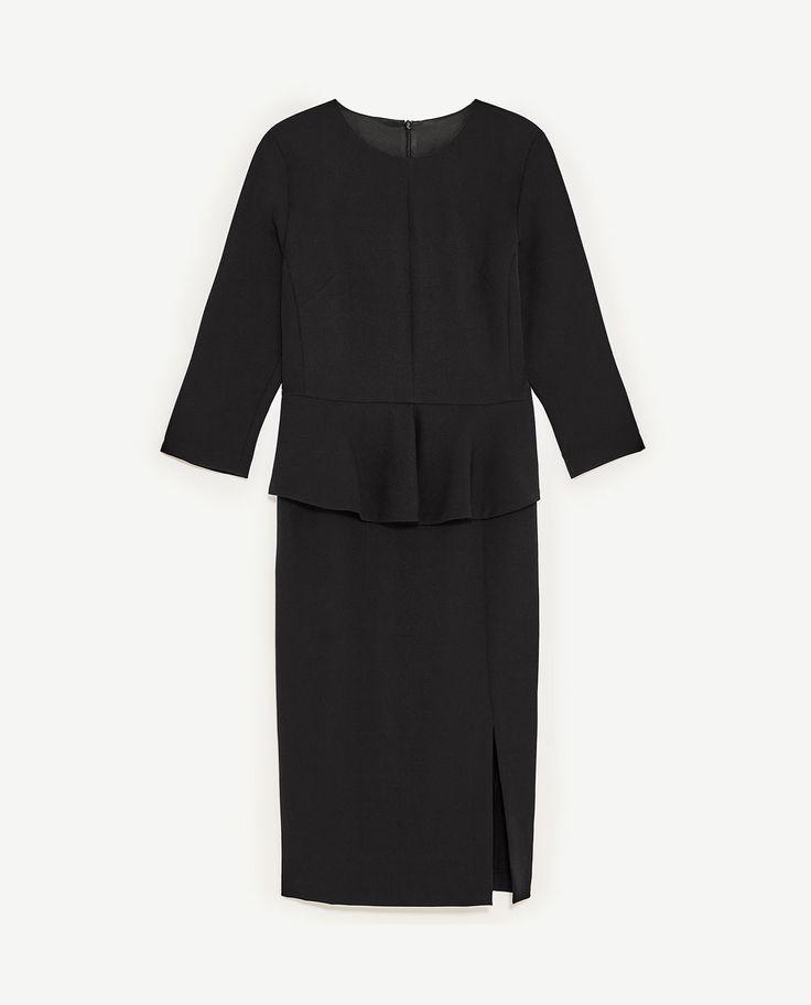 Image 8 of PEPLUM TUBE DRESS from Zara