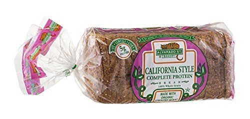 Alvarado Street Bakery Organic California Style Complete Protein Bread, 24 Ounce -- 6 per case. Ingredients: Sprouted Organic Whole Wheat Berries, Filtered Water, Wheat Gluten, Hon