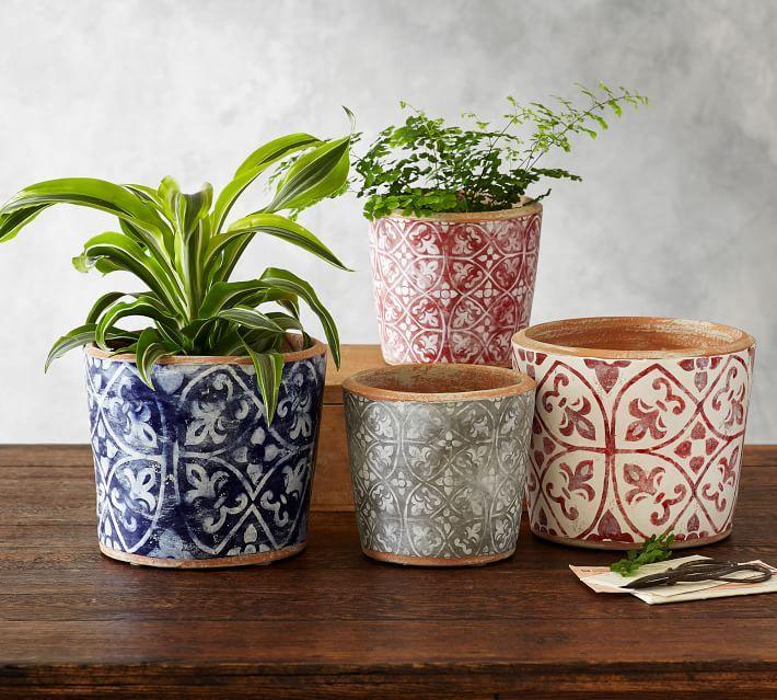 Ceramic Cachepot Collection Patterned Pottery Barn Flower Pots Ceramic Planters Pottery Planters