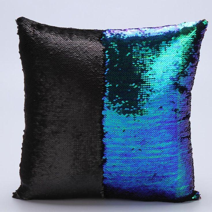 DIY Two Tone Glitter Sequins Throw Pillows