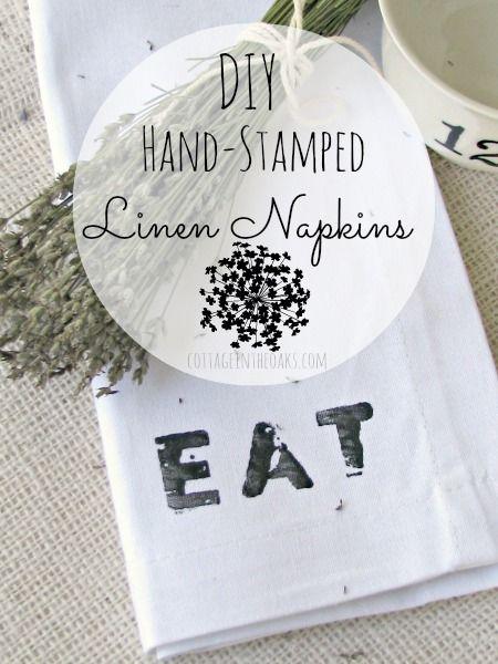 DIY personalized napkins