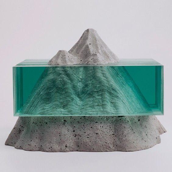 Ben Young : Sculptures de verre et de béton - ArchiDesignClub by MUUUZ - Architecture & Design