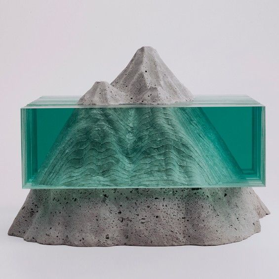 Ben Young : Sculptures de verre et de béton - ArchiDesignClub by MUUUZ - Architecture & Design