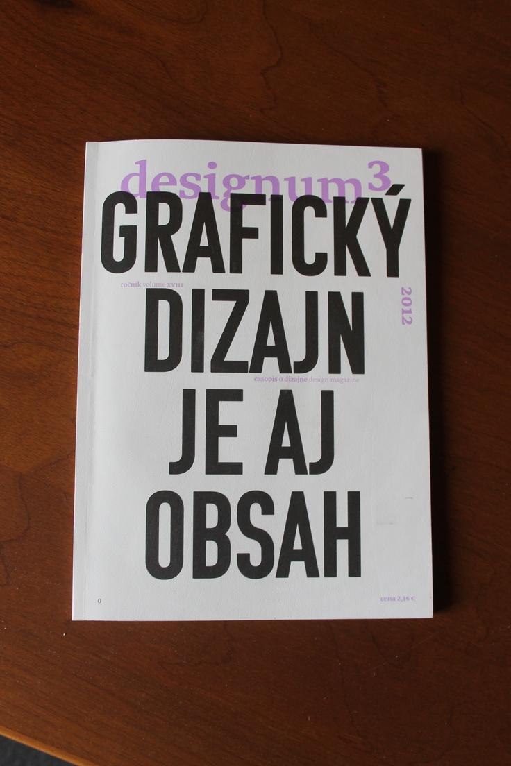 Komu Typeface on the Cover of Designum magazine /// Design by Boris Melus