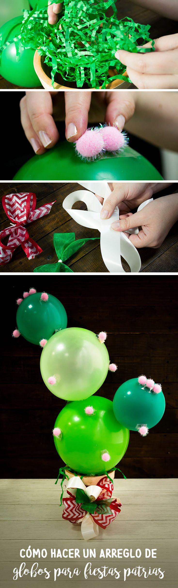 Decora tu casa con este arreglo de globos para fiestas patrias. Es muy sencillo y divertido de hacer.