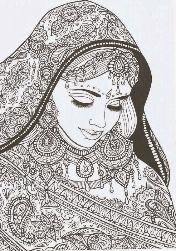 20 best ���� ��������� saree coloring images on pinterest saree Unicorn Beanie Boos Coloring Pages Christian Coloring Pages animal mandala coloring pages
