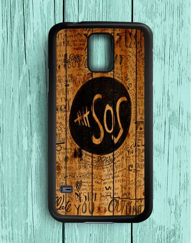 5 Second Of Summer Fans Quotes On Wood Samsung Galaxy S5 | Samsung S5 Case
