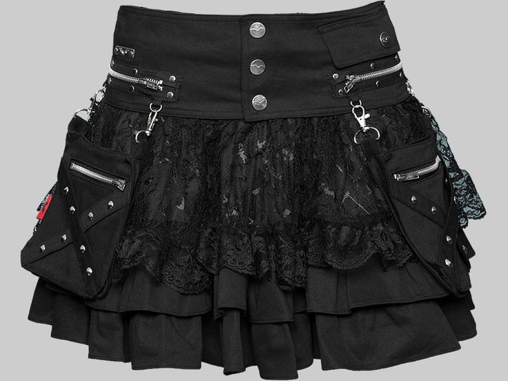 Mini skirt with belt. I would unclip the bag