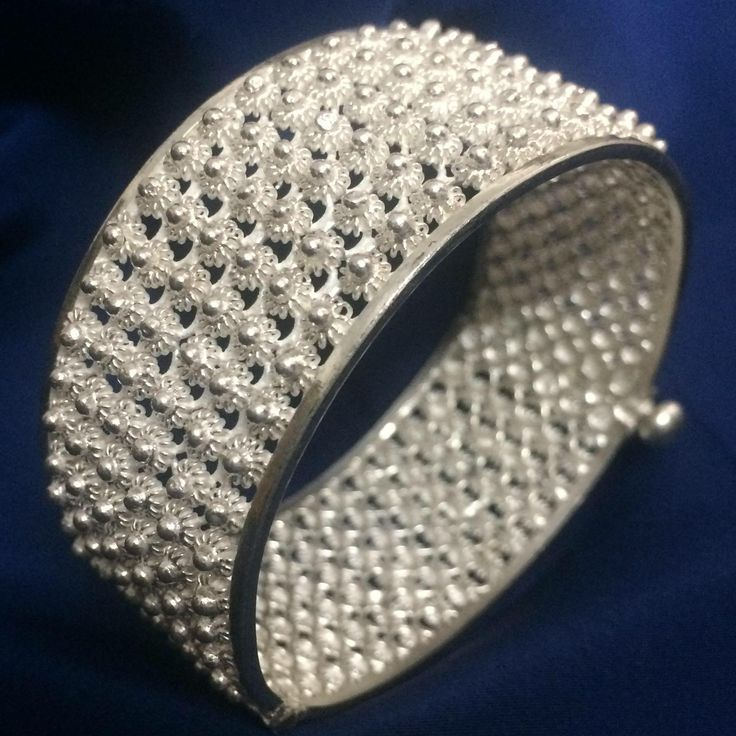 Silver Filigree Bangles handmade in Cuttack by our artisans at Silver Linings