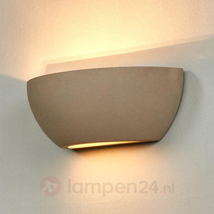 Ideal Elegante wandlamp Renata uit beton veilig u makkelijk online bestellen op lampen nl