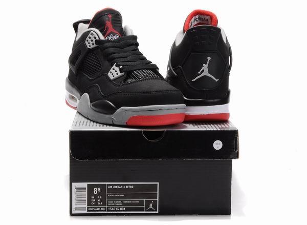 Air Jordan 4 Retro Black Cement Grey Red