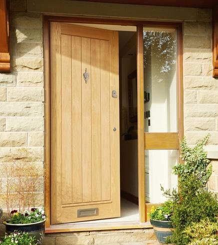 37 best images about front entrance ideas on pinterest for Oak front doors