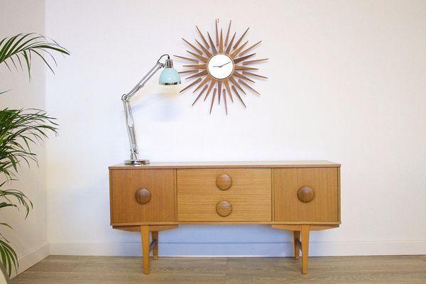 Mid Century Retro Danish Style Teak Sideboard Dressing Table Drawers | Vinterior   #20thcentury #midcentury #modern