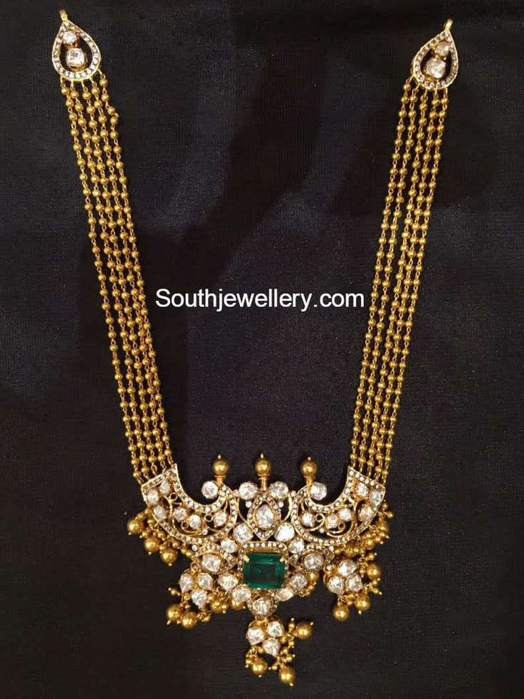 Antique Gold Long Chain with Pacchi pendant