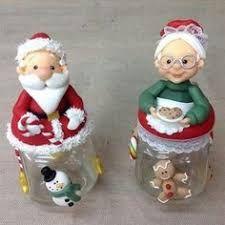 Resultado de imagen para frascos de vidrio decorados con porcelana fria para velas