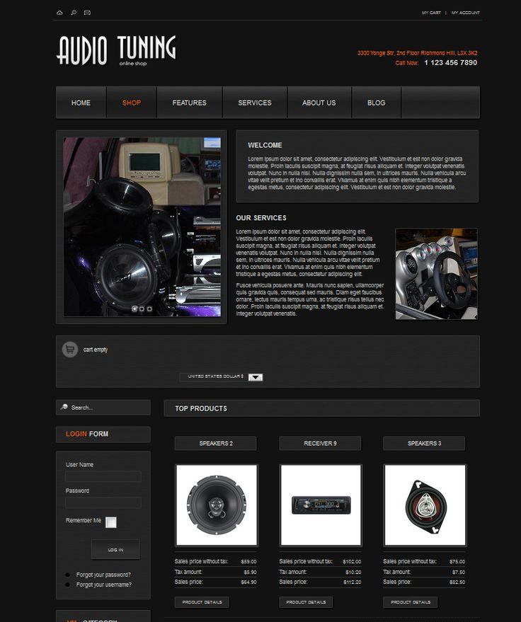 """AS-002049"" Non responsive Joomla! Template 2.5 black inspired color built in variety module up to 3 column."