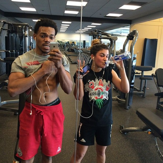 Chance The Rapper On Instagram Me And Collqueen S 1st Gymday Photo Health Fitness Jodyhighroller I M Coming For You Lol