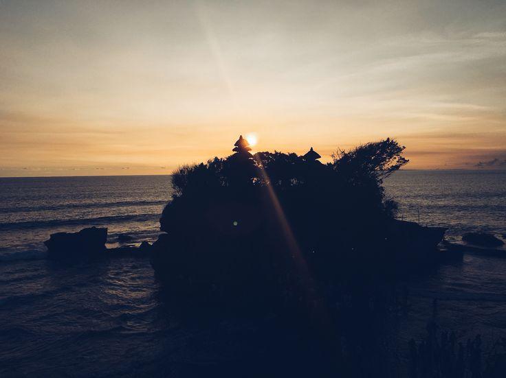 Sunset through the Tamah Lot temple, Bali.