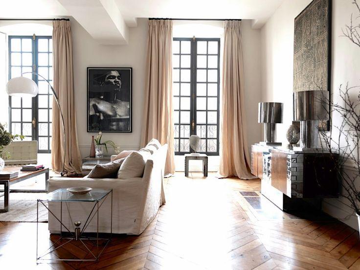 Гостиная в парижском стиле - фото
