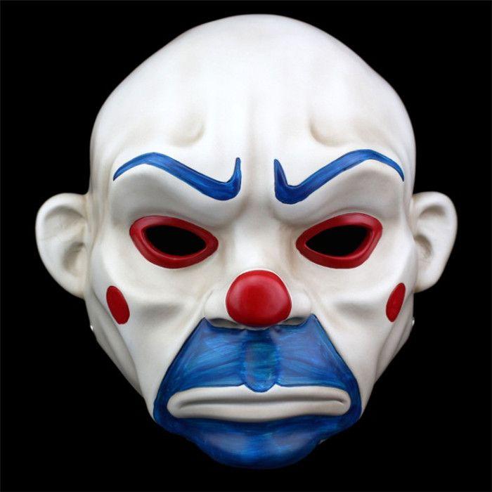 2016 Top Grade Resin Batman Joker Clown Bank Robber Mask Dark Knight Halloween Masquerade Party Fancy Masks Toys Free Shipping