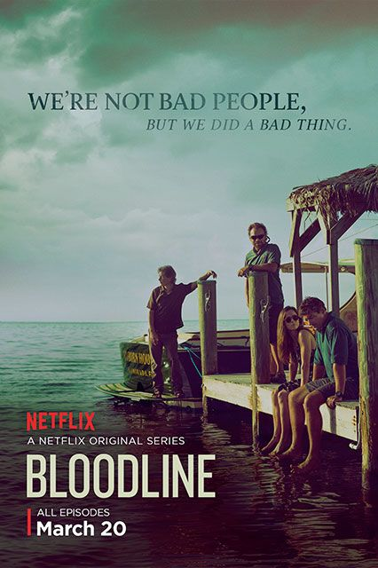 Bloodline: Season 1A new Netflix original series following a beach town's favorite family's attempts to keep a dark secret secret.Available March 20