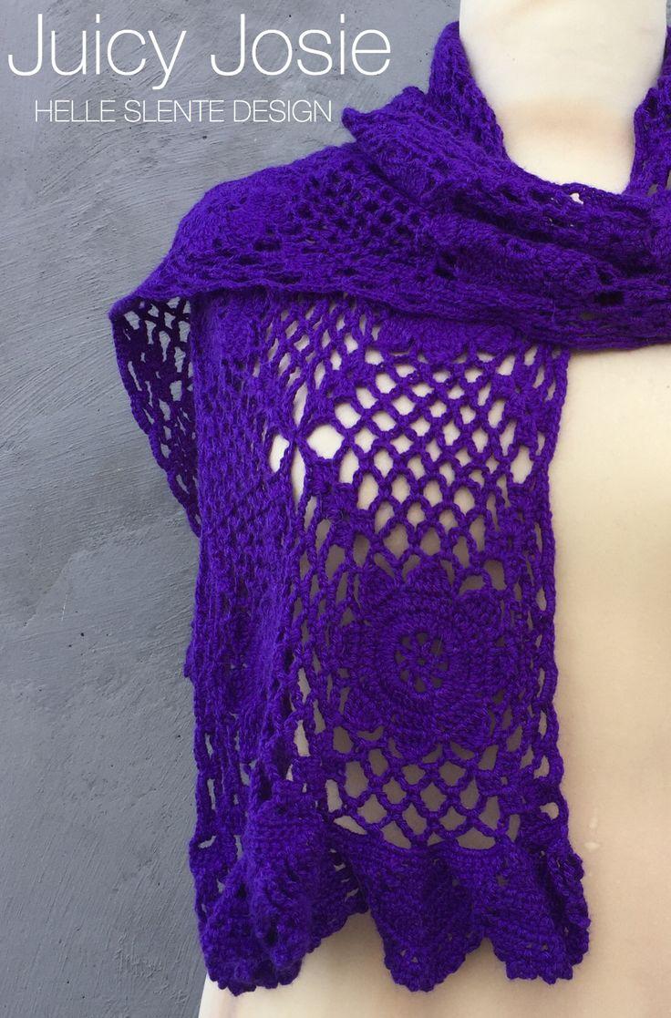 Juicy Josie Scarf/Shawl by HELLE SLENTE DESIGN | crochet pattern |