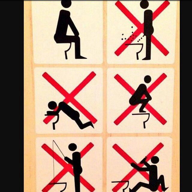 Amazing Sochi Bathroom Rules Sign Found In Accommodation By An Athlete