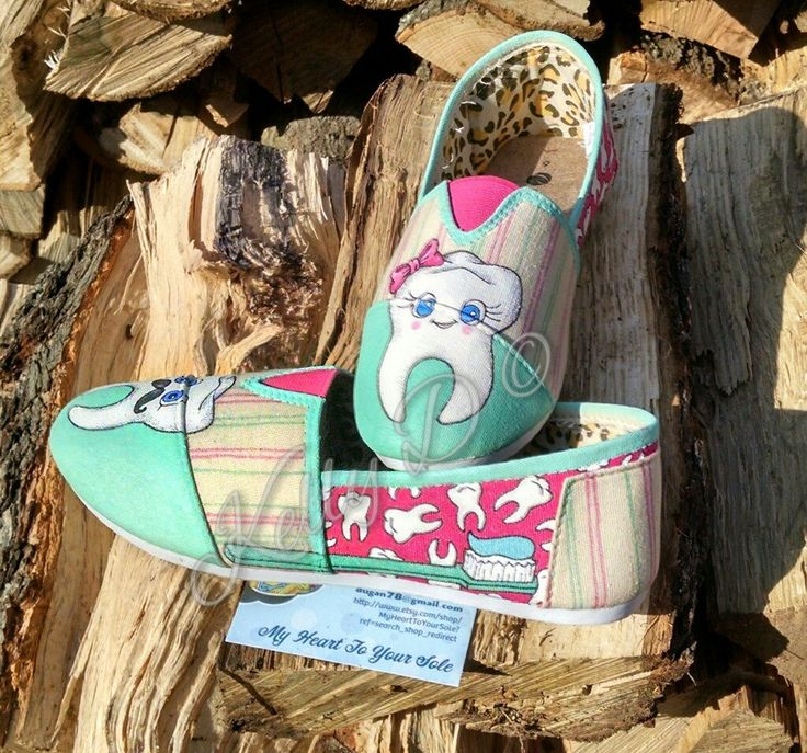 Price includes shoes. Teeth dentistry NOT TOMS (look alikes) by MyHeartToYourSole on Etsy