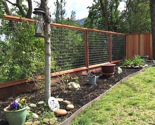 36 Best Fence Images On Pinterest Deer Fence Garden
