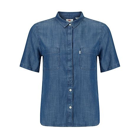 how to wear a denim shirt to work