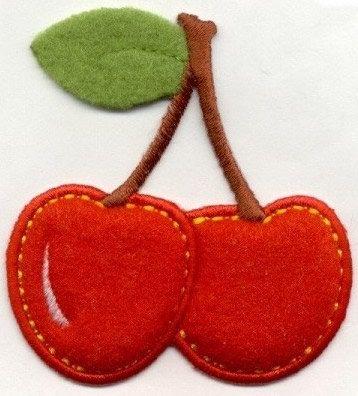 What a cute felt cherry patch<3<3