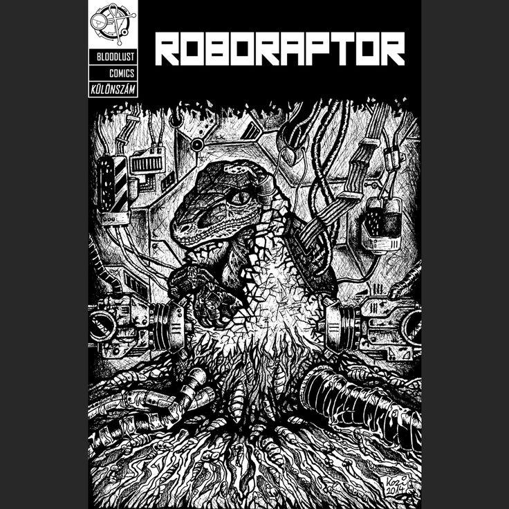 Roboraptor cover | ballpoint pen drawing | 2014 on Behance