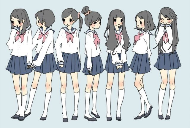 Character Design Group : Cute anime girls 선 간결함 pinterest design manga and