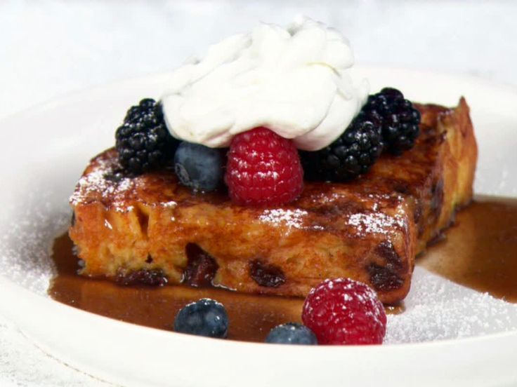 Panettone French Toast from FoodNetwork.com  My favorite Christmas/Holiday Breakfast. I use whipped cream and fruit. Yum!