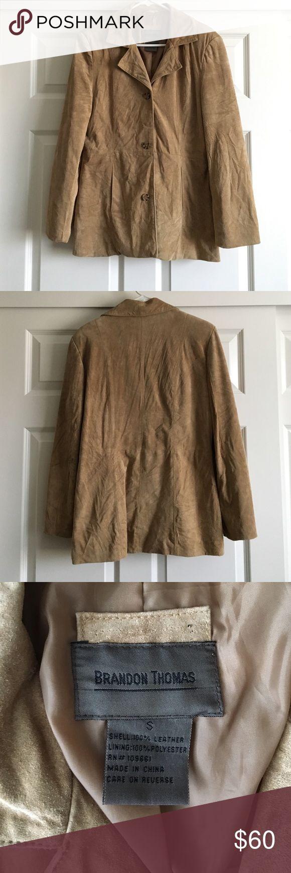 Tan Leather Jacket Great condition Brandon Thomas Jackets & Coats Pea Coats