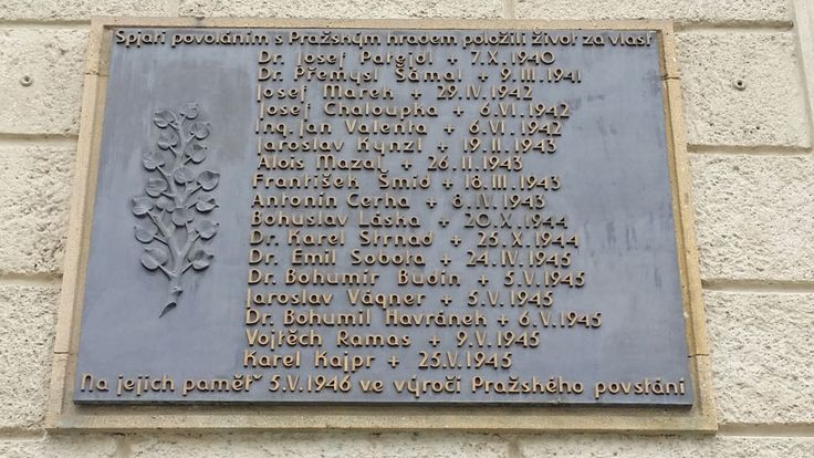 At Prague Castle, the people who worked there and died during the second world war.